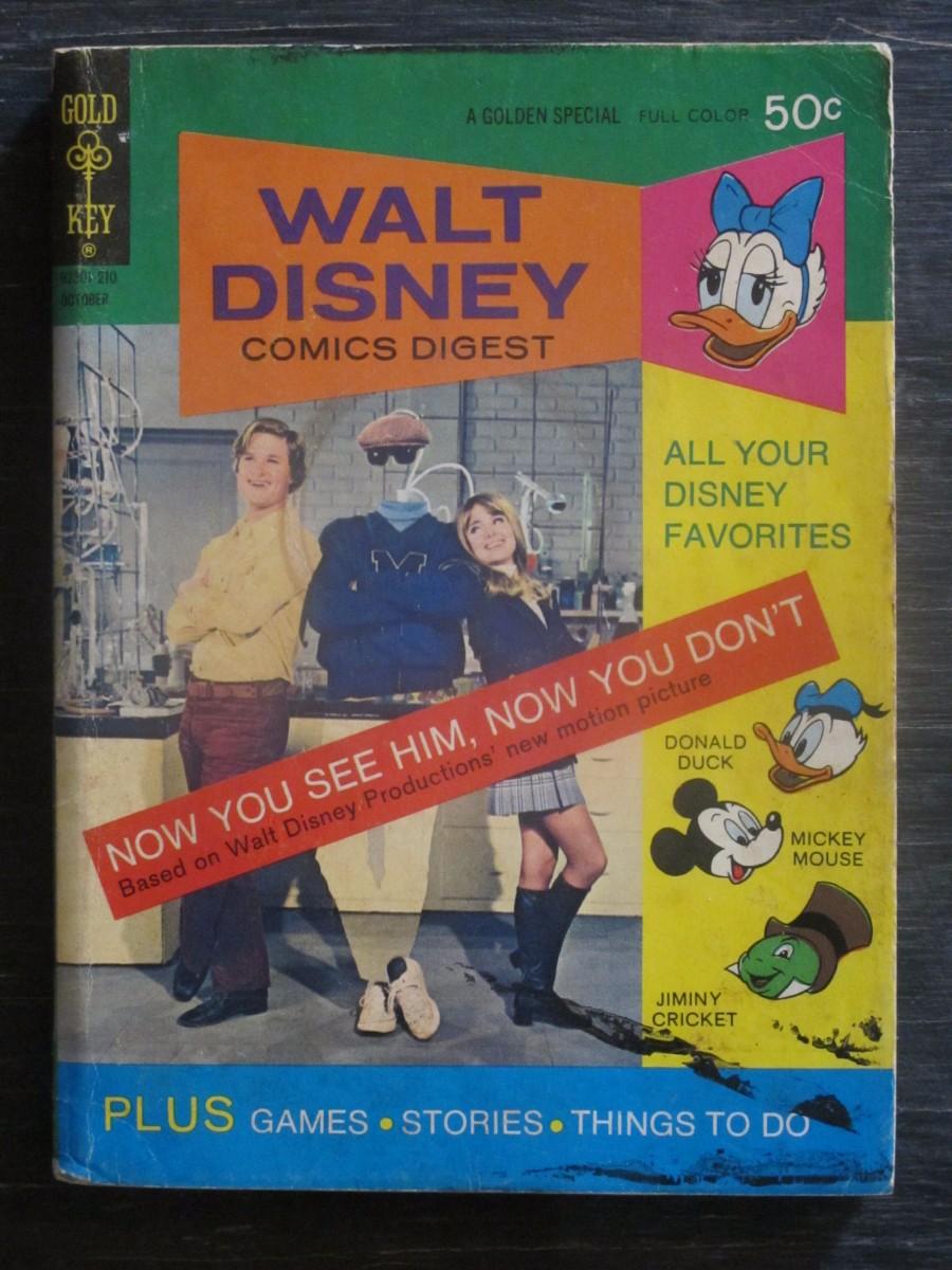 Gold Key Walt Disney Comics Digest #46 Magazine October 1972 Invisible Man