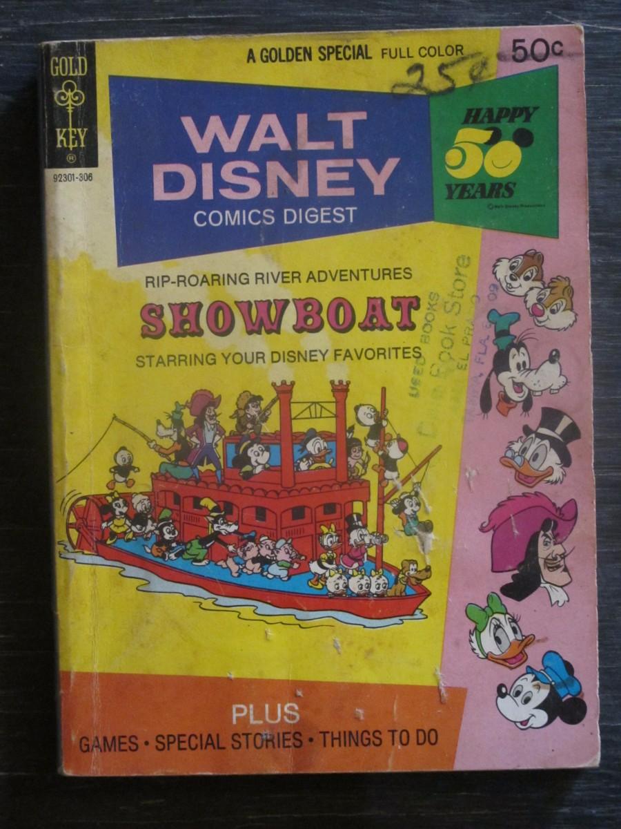 Gold Key Walt Disney Comics Digest #41 Magazine June 1973 Showboat