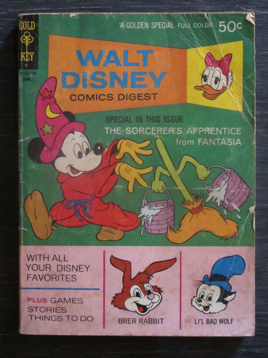Gold Key Walt Disney Comics Digest #29 Magazine June 1971 Sorcerer's Apprentice Fantasia