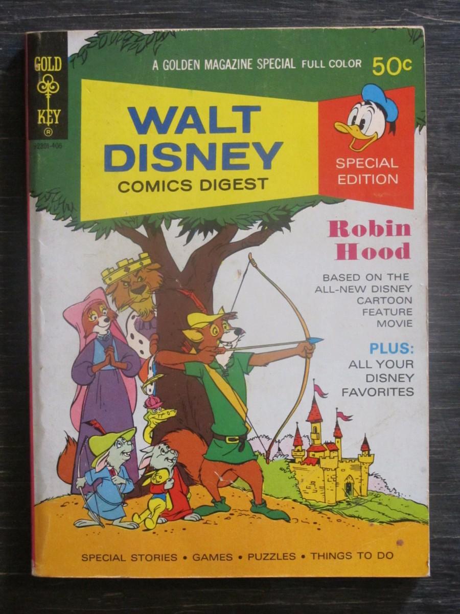 Gold Key Walt Disney Comics Digest #47 Magazine June 1974 Robin Hood