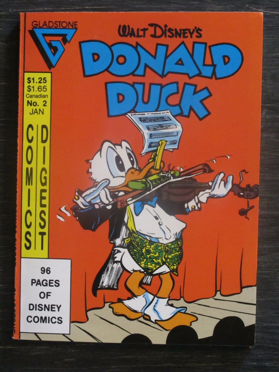Glad Stone Comics Digest Walt Disney #2 Magazine January 1987 Donald Duck