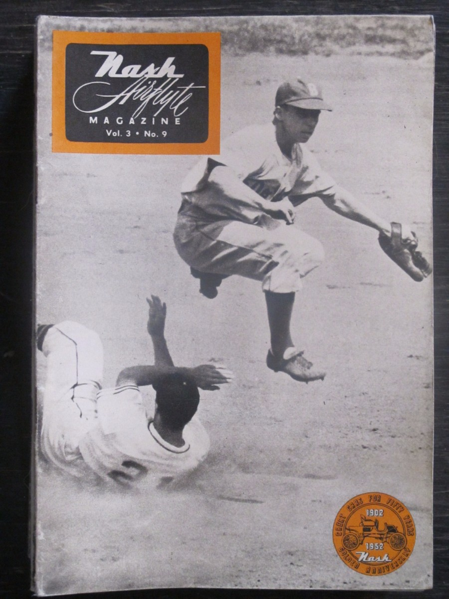 Nash Airflyte Magazine 1952 Pee Wee Reese