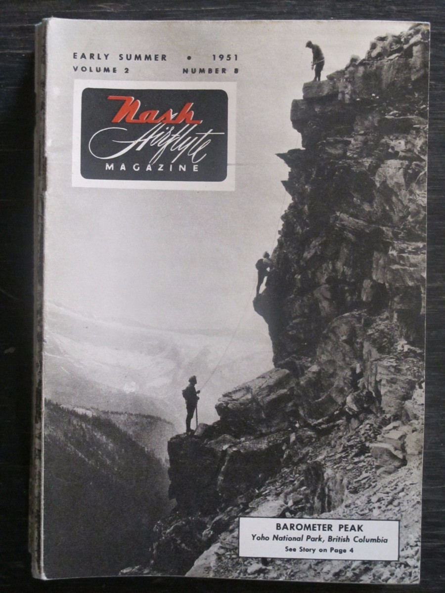 Nash Airflyte Magazine Early Summer 1951 Barometer Peak British Columbia