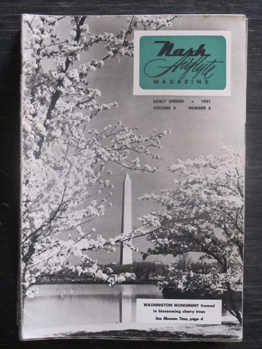 Nash Airflyte Magazine Early Spring 1951 Washington Monument DC