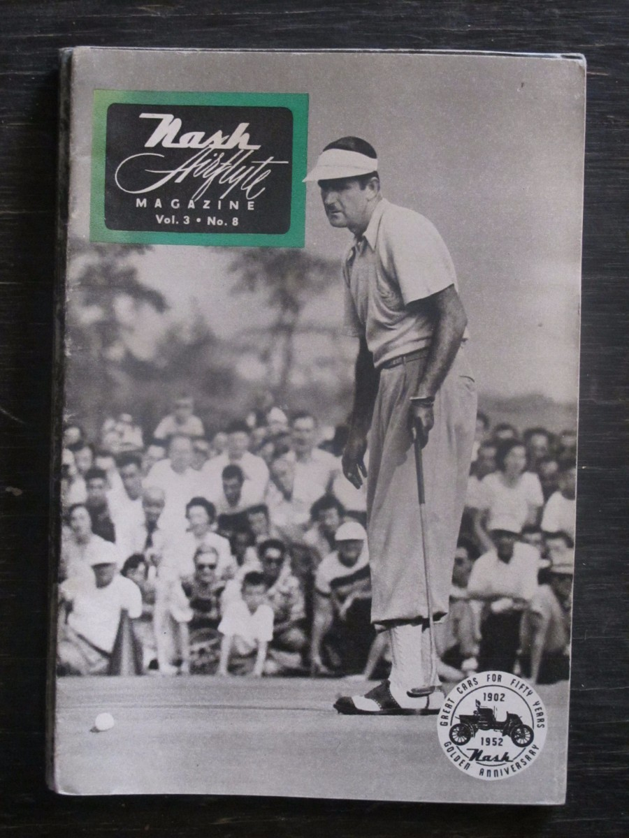 Nash Airflyte Magazine 1952 Golfer Lloyd Mangrum