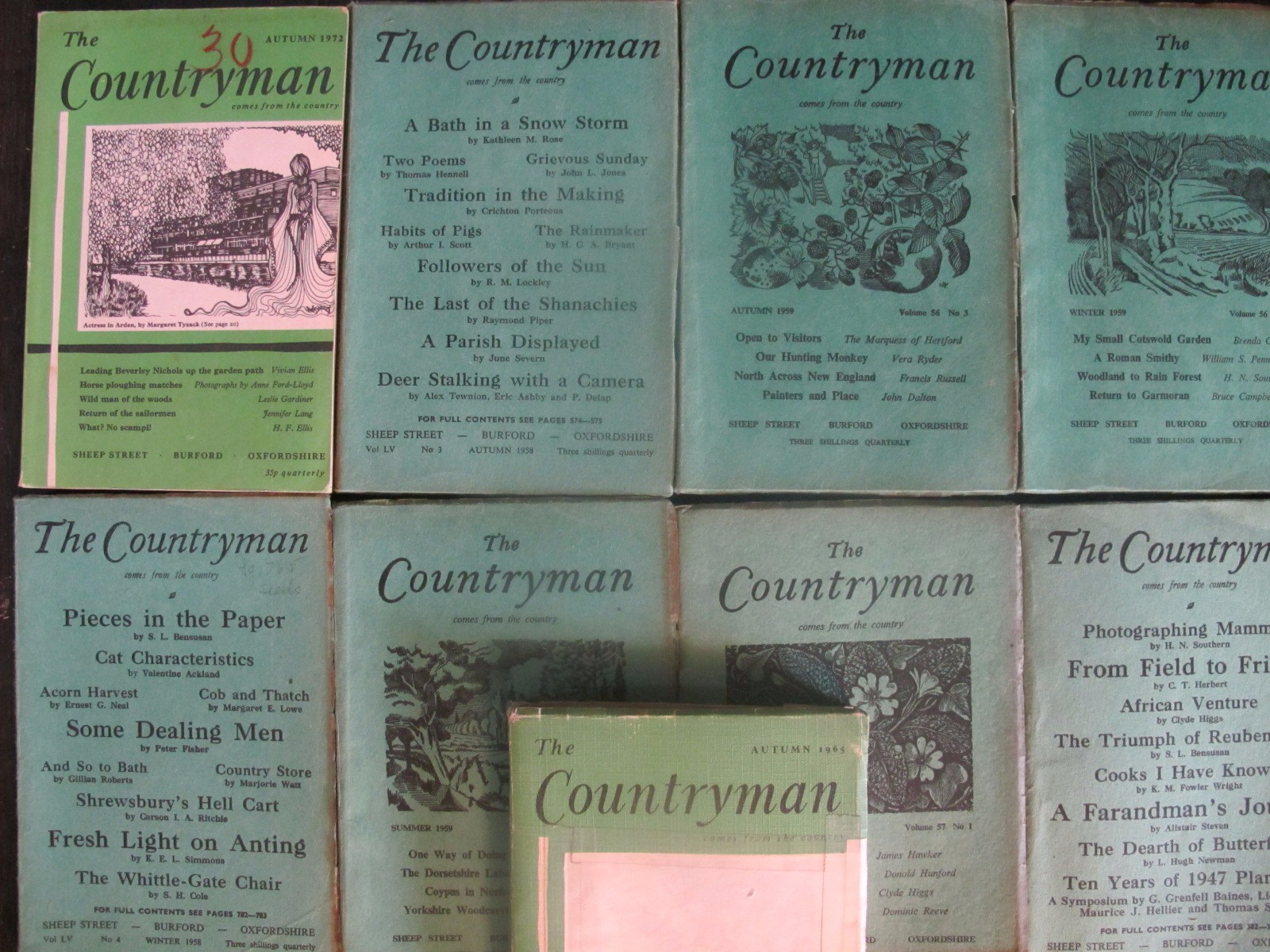 Lot of 9 The Countryman Magazine 1958 - 1972