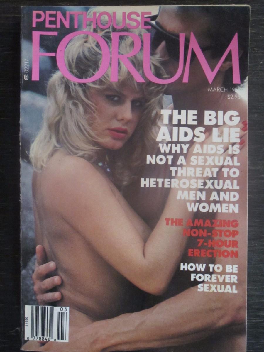 Penthouse Forum Magazine March 1988 BIG AIDS LIE