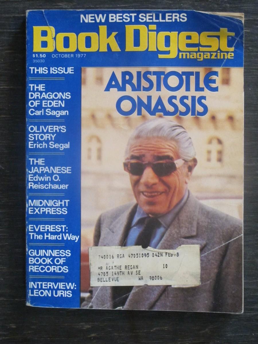 Book Digest Magazine October 1977 Aristotle Onassis