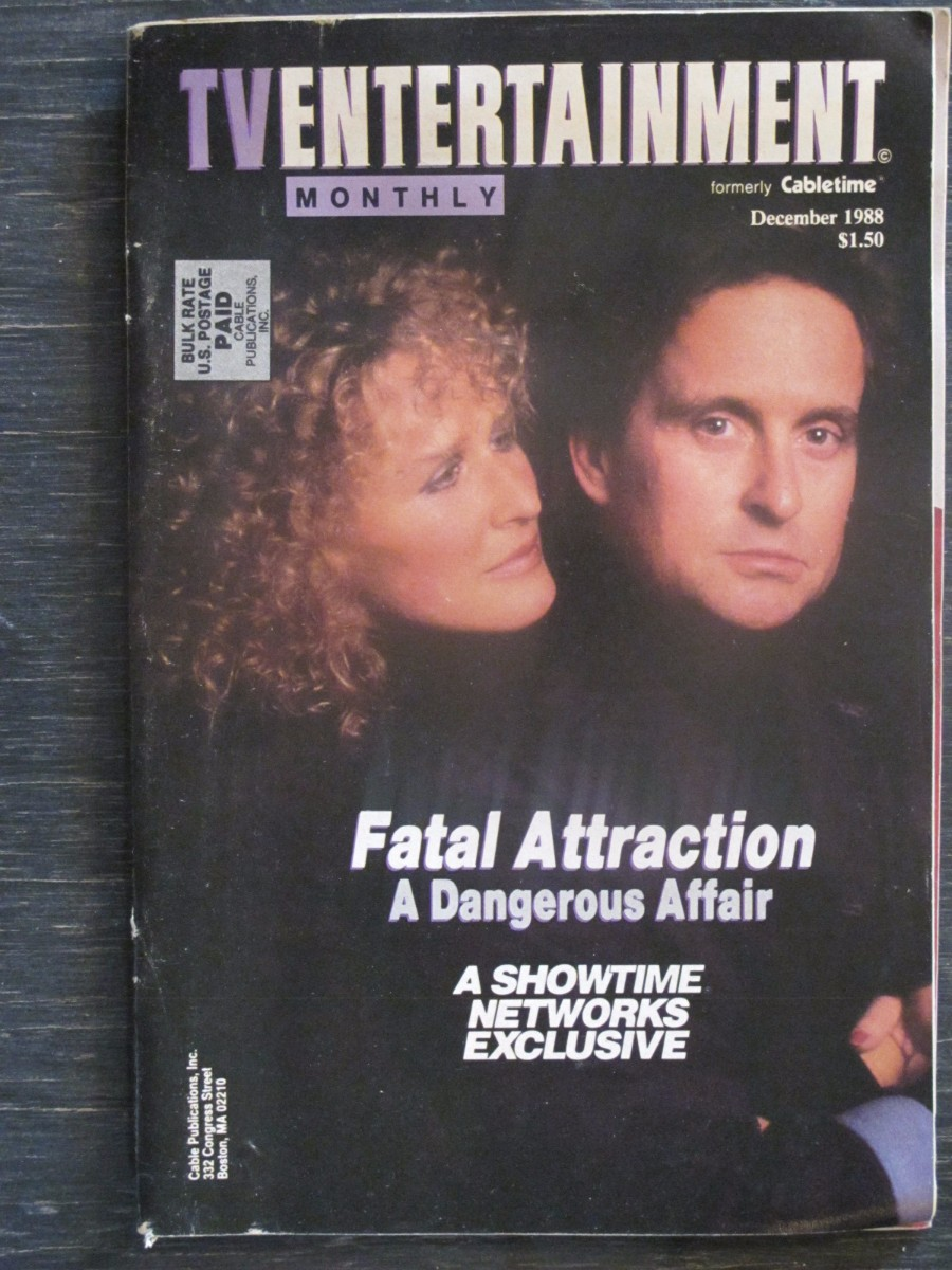 TV Entertainment Monthly Magazine December 1988 Fatal Attraction Michael Douglas Glenn Close