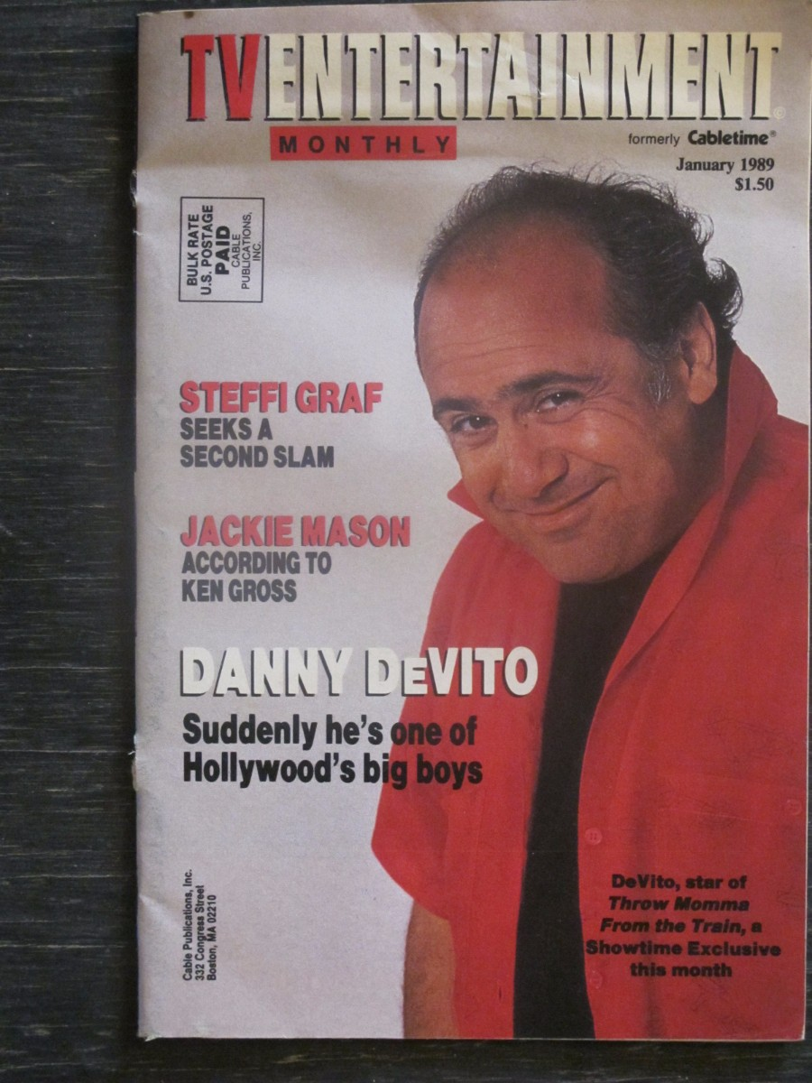 TV Entertainment Monthly Magazine January 1989 Danny DeVito