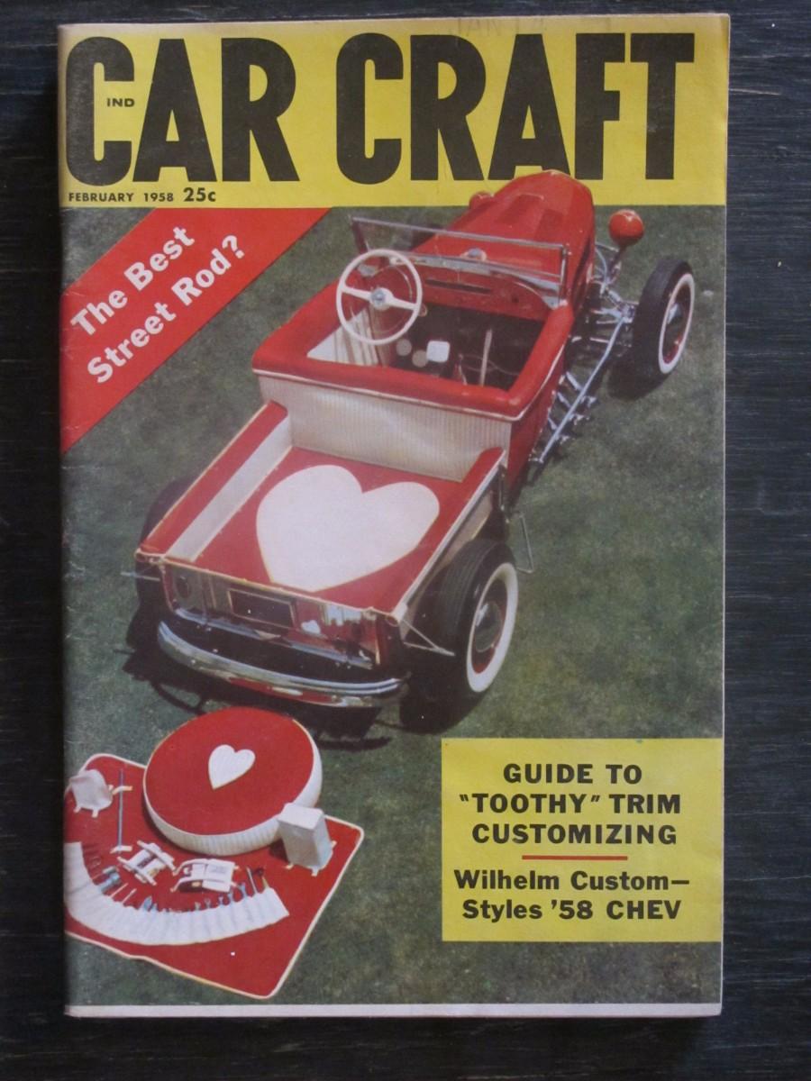 Car Craft Magazine February 1958