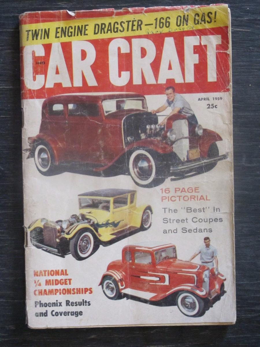Car Craft Magazine April 1959