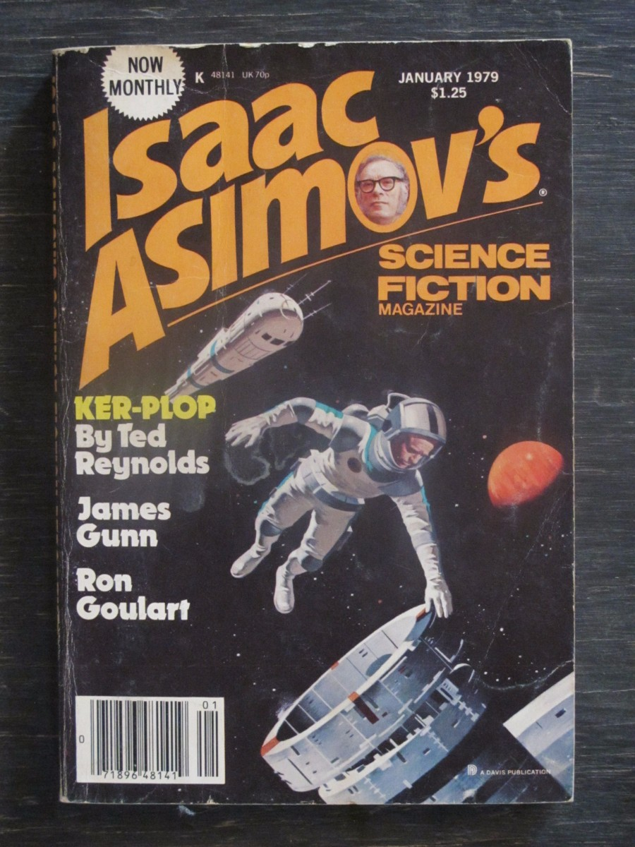 Isaac Asimov Science Fiction Magazine January 1979 Ker-Plop by Ted Reynolds