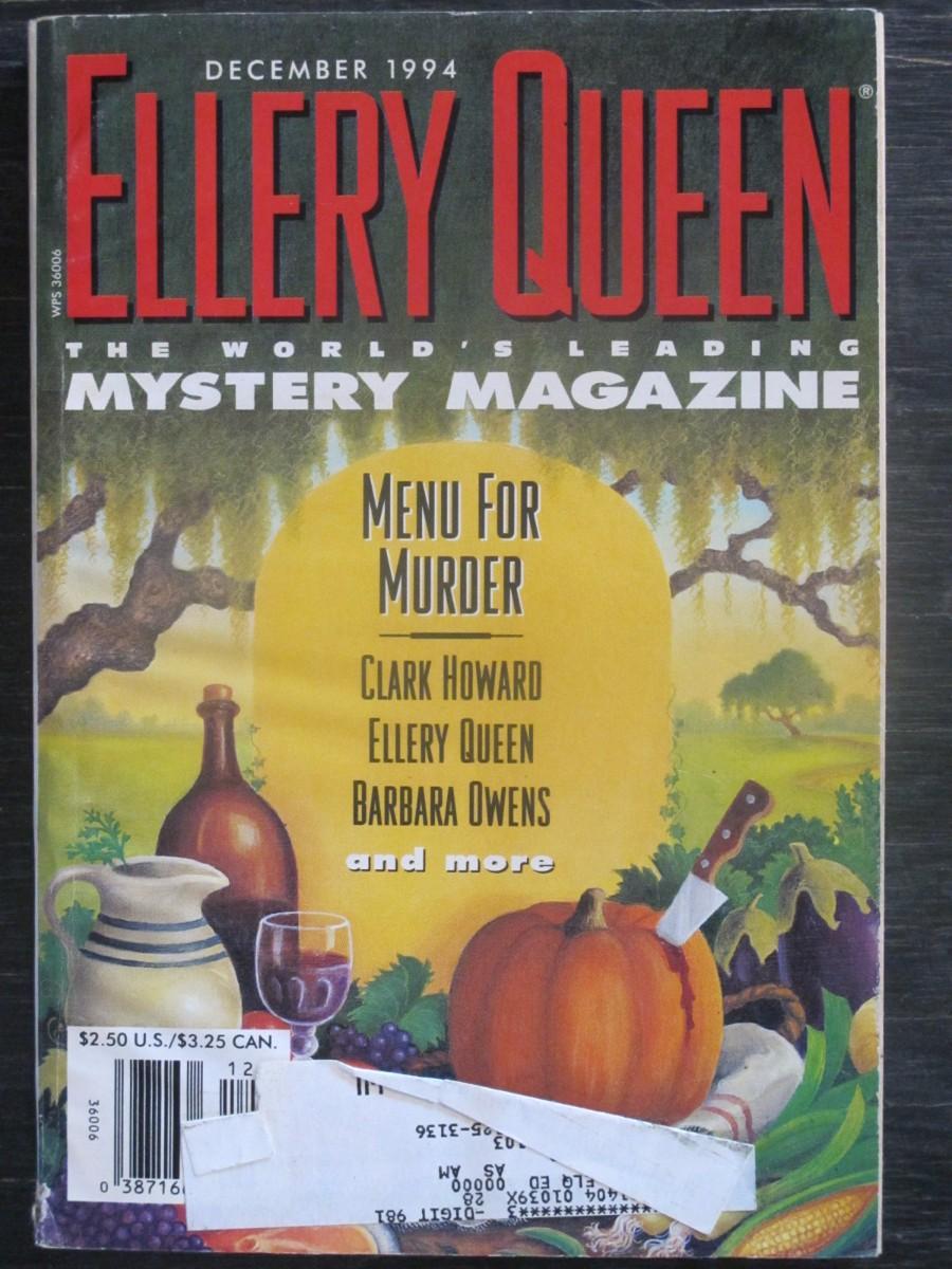 Ellery Queen Mystery Magazine December 1994 Menu for Murders