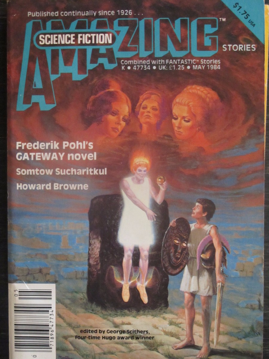 Amazing Science Fiction Magazine May 1984 Frederick Pohl