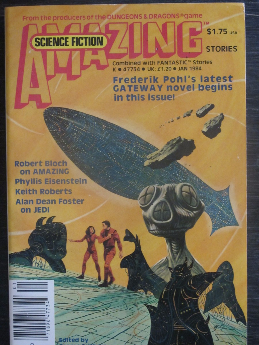 Amazing Science Fiction Magazine January 1984 Frederick Pohl