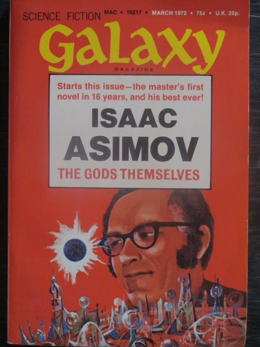 Galaxy Science Fiction Magazine March 1972 Isaac Asimov Gods Themselves