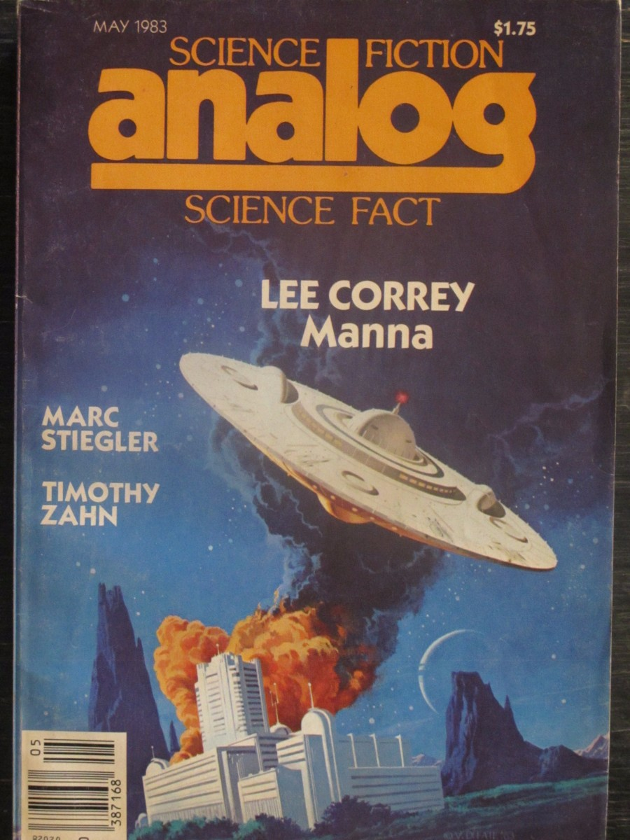 Analog Science Fact / Fiction Magazine May 1983 Lee Correy Manna