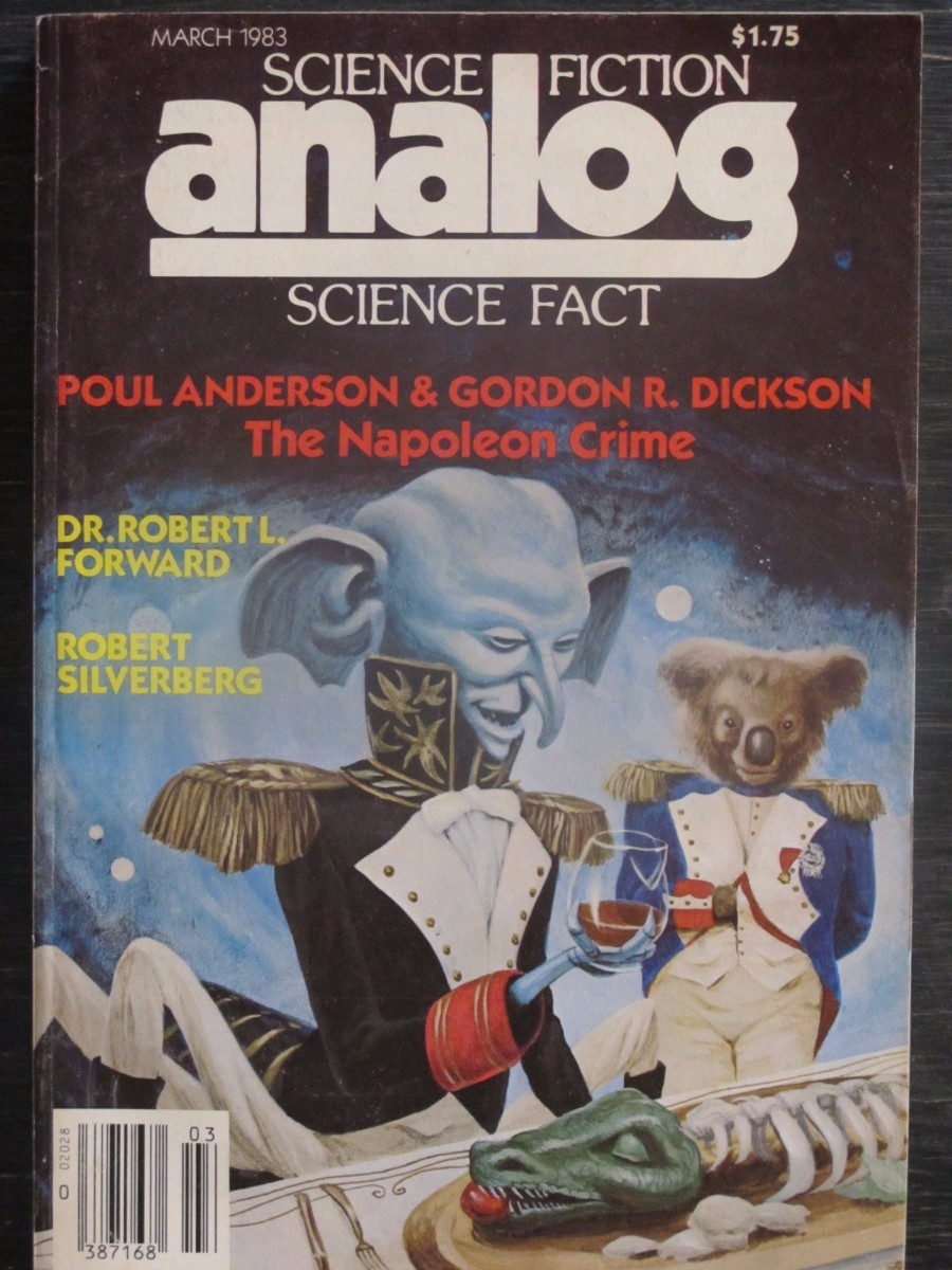 Analog Science Fact / Fiction Magazine March 193 Poul Anderson Napoleon Crime