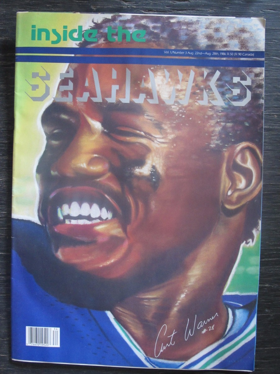 Inside The Seahawks Seattle Football #3 Magazine August 22, 1986 Curt Warner