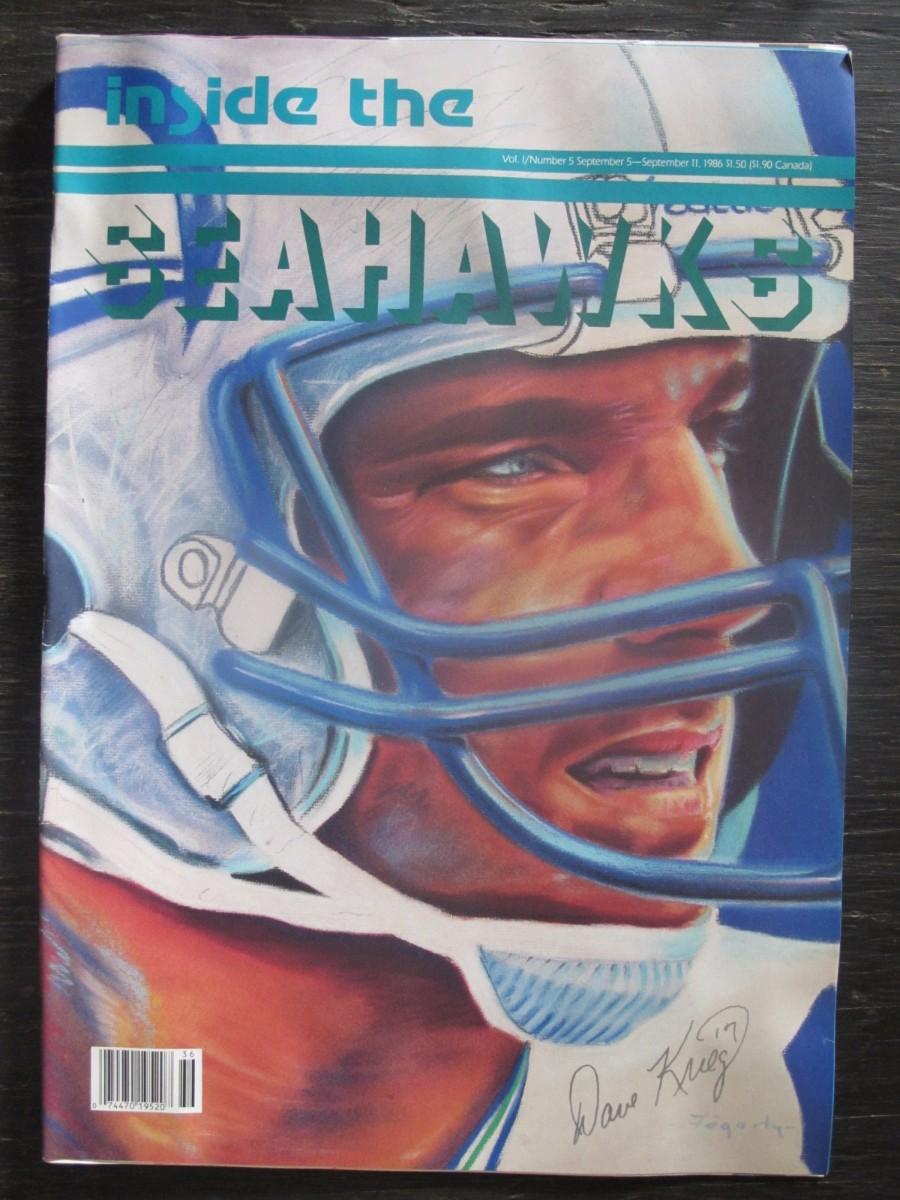 Inside The Seahawks Seattle Football #5 Magazine September 5, 1986 Dave Krieg