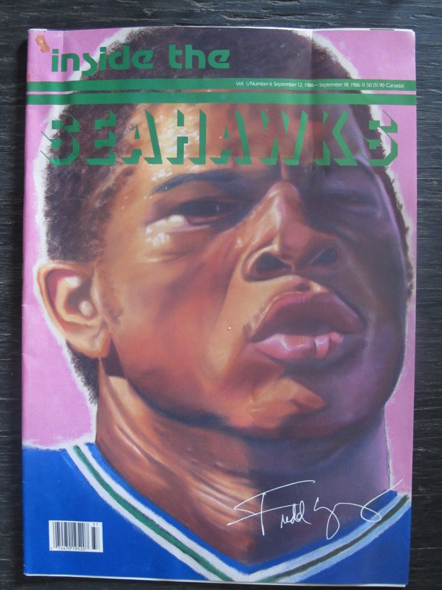 Inside The Seahawks Seattle Football #6 Magazine September 12, 1986 Fredd Young