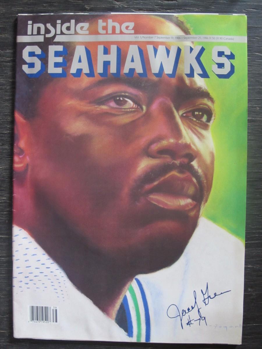 Inside The Seahawks Seattle Football Magazine September 19, 1986 Jacob Green