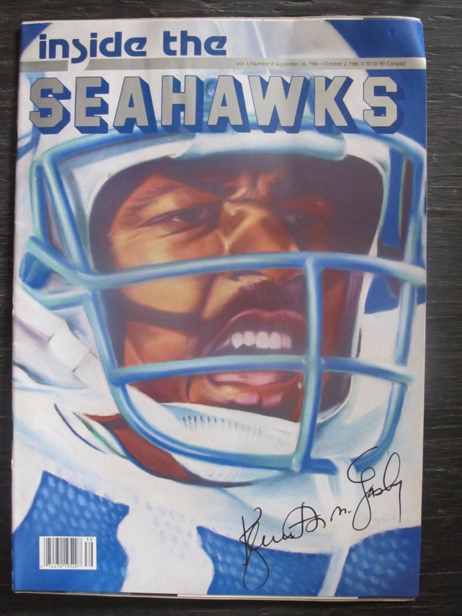 Inside The Seahawks Seattle Football Magazine September 26, 1986 Ken Easley