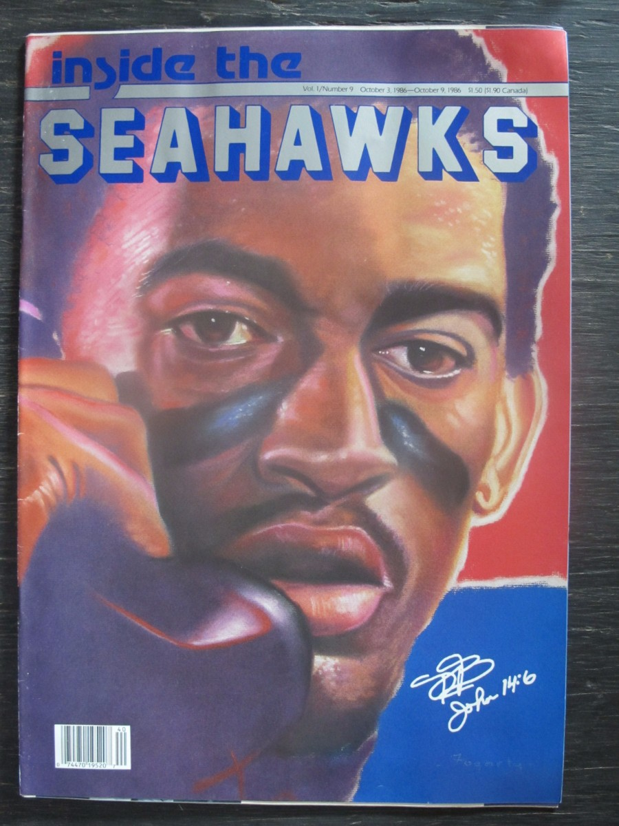Inside The Seahawks Seattle Football Magazine October 3, 1986 Dave Brown