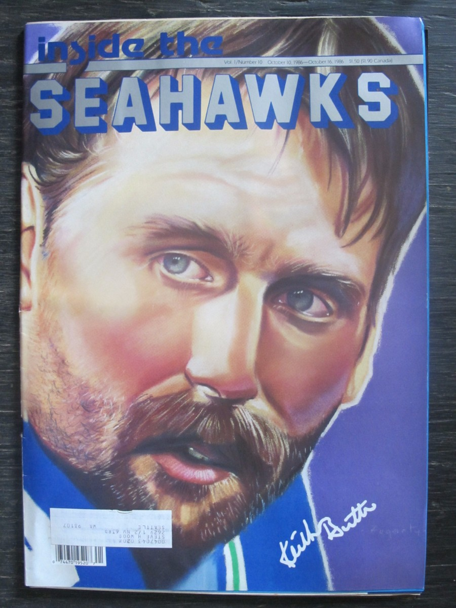 Inside The Seahawks Seattle Football Magazine October 10, 1986 Keith Butler