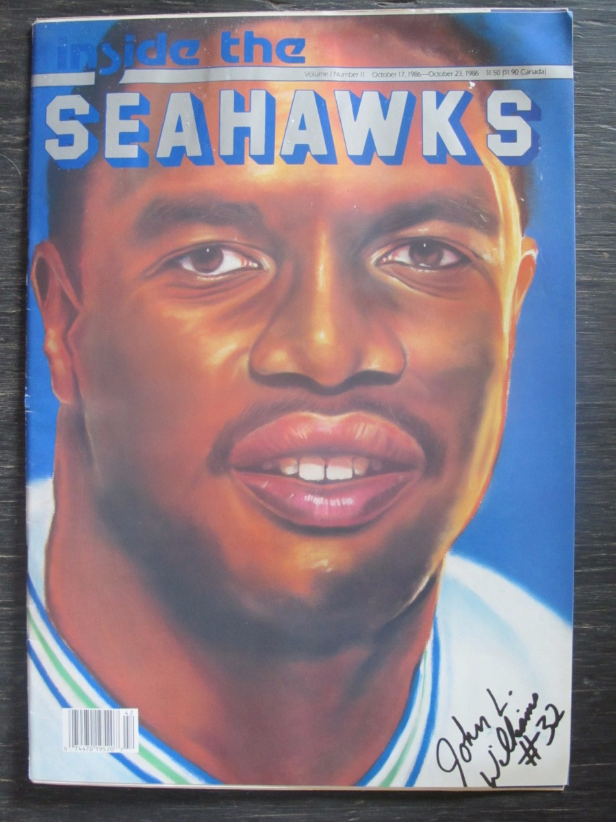Inside The Seahawks Seattle Football Magazine October 17, 1986 John L. Williams
