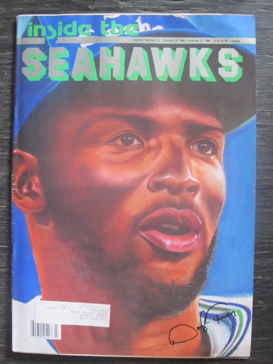 Inside The Seahawks Seattle Football Magazine October 24, 1986 Daryl Turner
