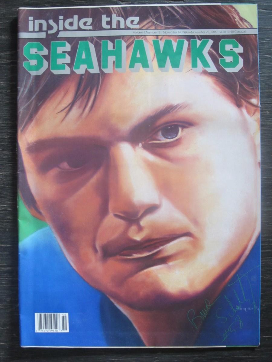 Inside The Seahawks Seattle Football Magazine November 14, 1986 Bruce Scholtz