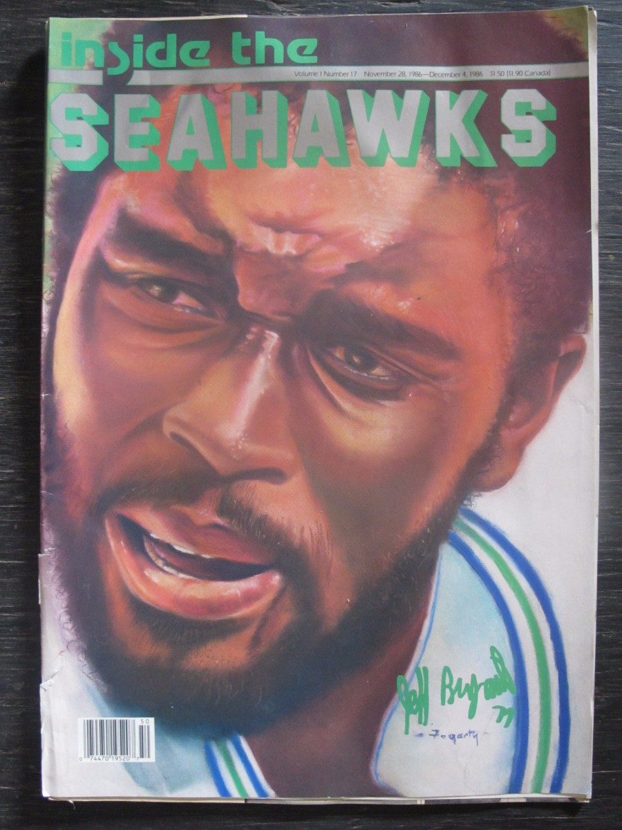 Inside The Seahawks Seattle Football Magazine November 28, 1986 Jeff Bryant
