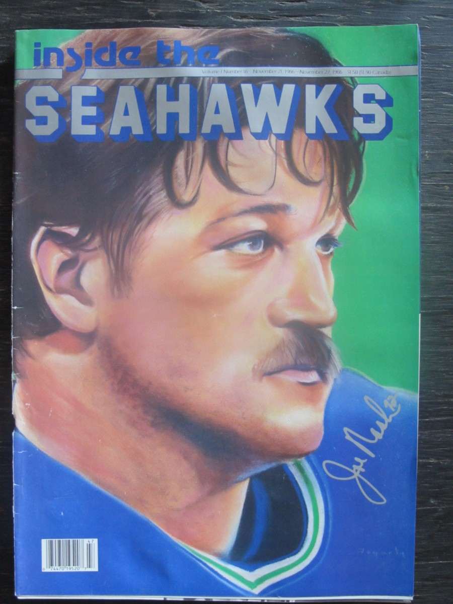 Inside The Seahawks Seattle Football Magazine November 21, 1986 Joe Nash