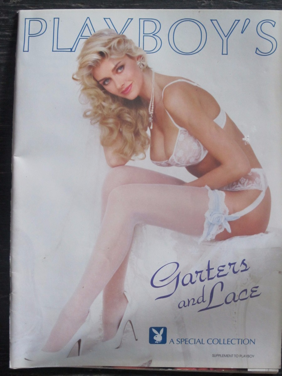 Playboy's Garters and Lace Supplement Magazine 1992 Kimberly Conrad