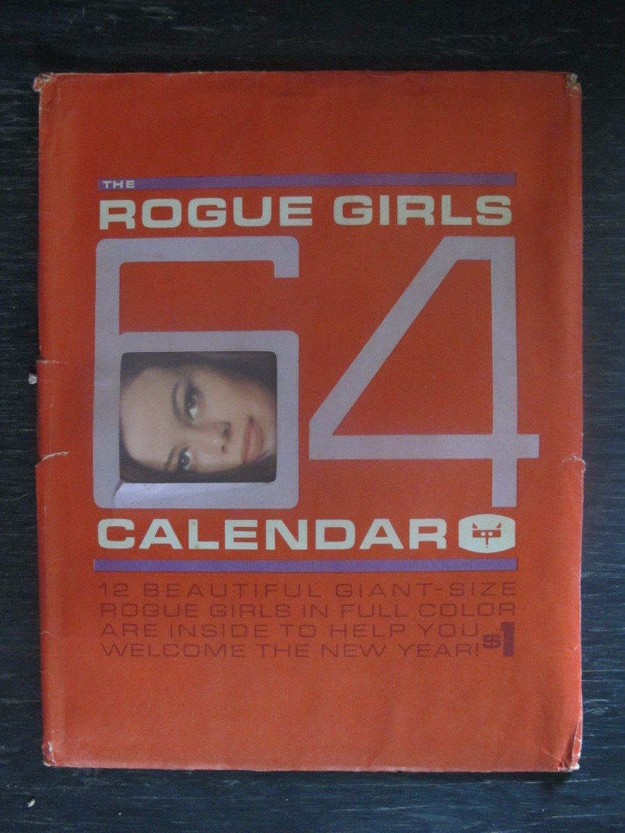 The Rogue Girls Men's Wall Calendar Pin Ups Nudes Magazine 1964