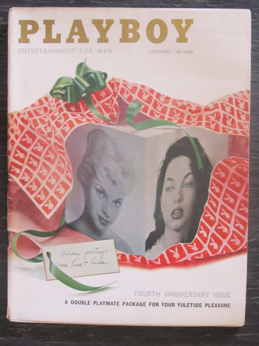 Playboy Magazine December 1957 Lisa Winters & Linda Vargas / Hugh Hefner Interview