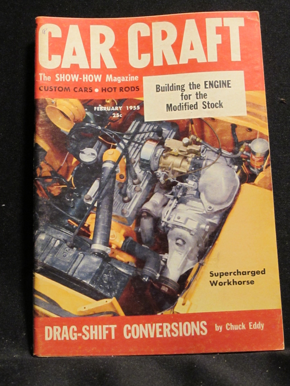 Car Craft Magazine February 1955