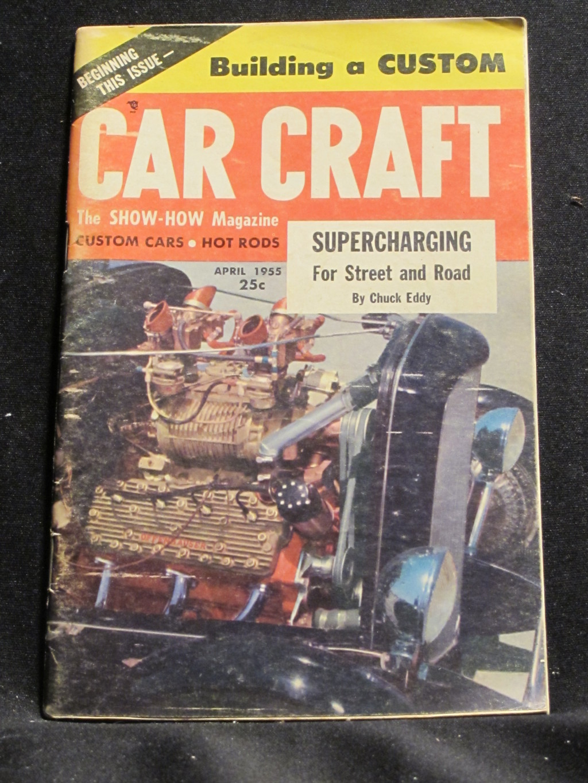 Car Craft Magazine April 1955