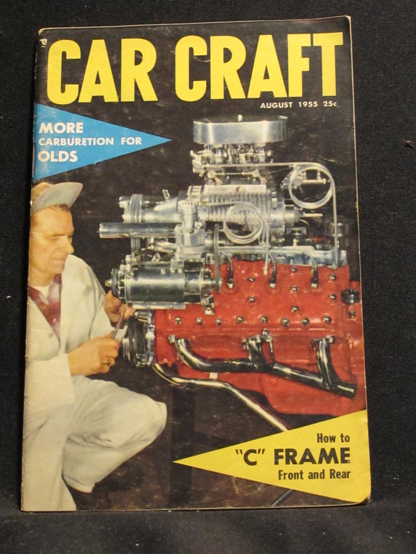 Car Craft Magazine August 1955