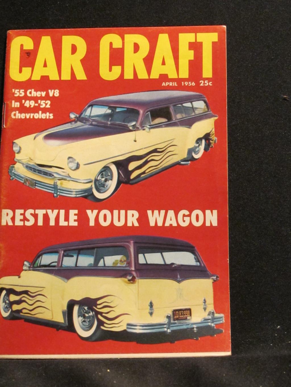 Car Craft Magazine April 1956