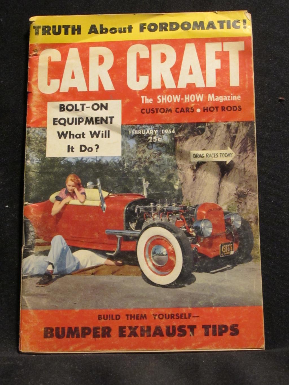 Car Craft Magazine February 1954