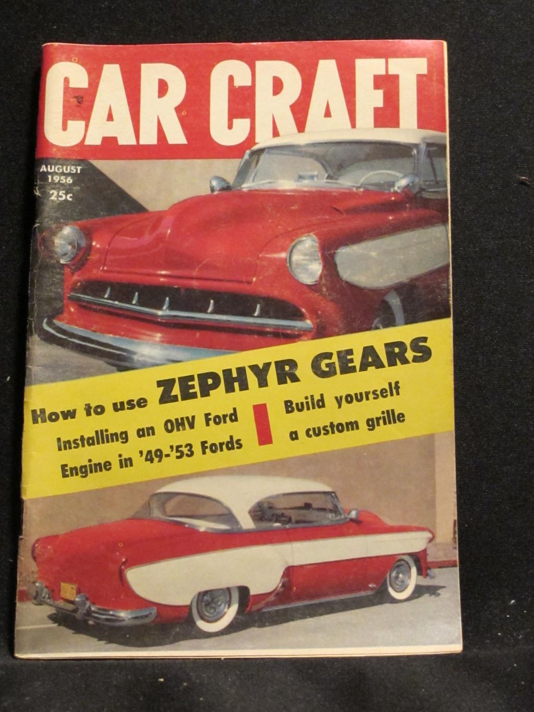 Car Craft Magazine August 1956
