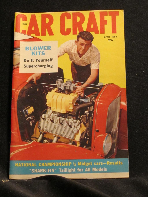 Car Craft Magazine April 1958