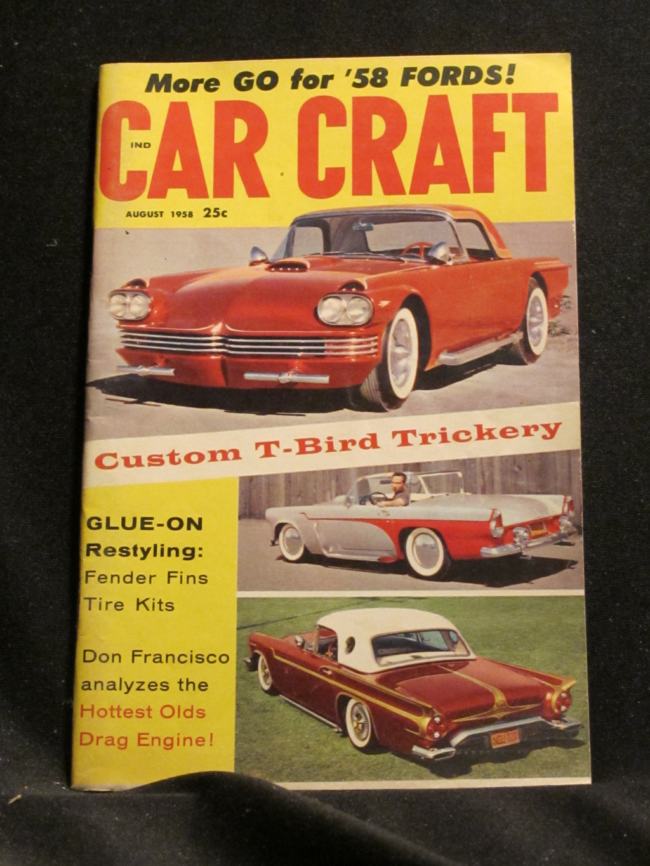 Car Craft Magazine August 1958