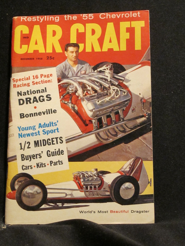 Car Craft Magazine December 1958
