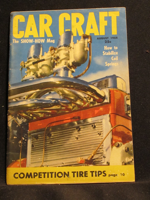 Car Craft Magazine August 1954