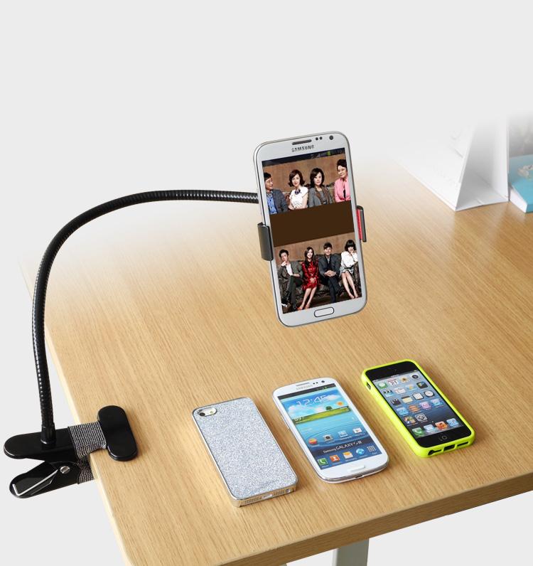 Metal Lazy Bed side Desktop Car Mount Phone Holder Clip for iPhone