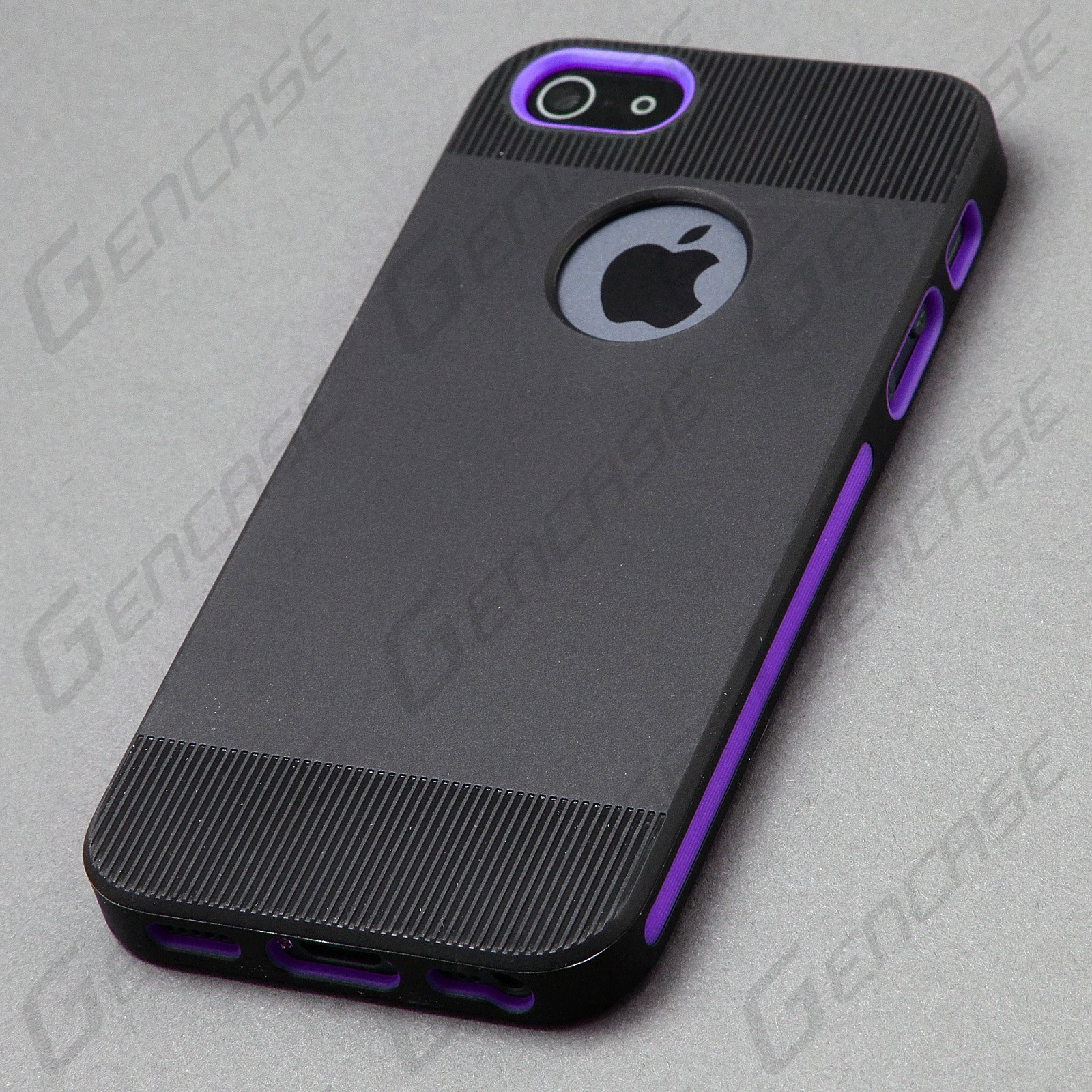 TPU Rubber Slim Snap on Back Cover Case for Apple iPhone 5 5S Black ...
